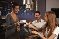 Service in bar Stock Image