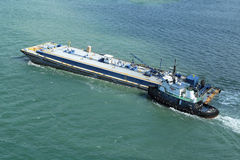 Service barge royalty free stock images
