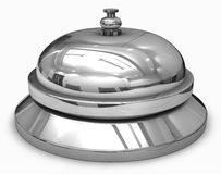 Service bell. On white 3D render generated image Royalty Free Stock Photo