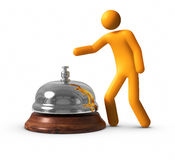 Service Bell. 3D rendered image : Service Bell Stock Photography