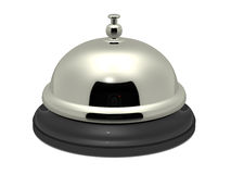 Service bell. On white background, concept of customer service and hospitality vector illustration