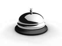 Service bell. On white. 3D generated image Royalty Free Stock Photo