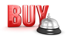 Service bell and Buy Royalty Free Stock Photography