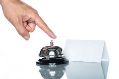 Service bell on the Check in desk Stock Photography