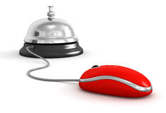 Service bell and Computer Mouse Stock Photography