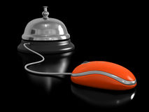 Service bell and Computer Mouse Stock Photos
