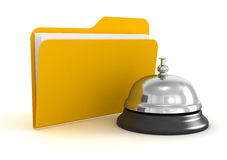 Service bell and Folder Royalty Free Stock Photo