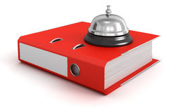 Service bell and Folder Royalty Free Stock Photos