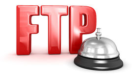 Service bell and FTP. Image with clipping path Stock Images