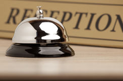 Service bell at the hotel. Service retro bell at the hotel Stock Photography