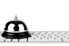Service Bell with keyboard Royalty Free Stock Image