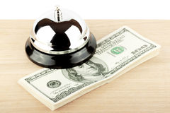 Service Bell with money Stock Photography