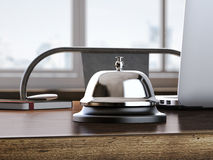 Service bell on the office table. 3d rendering Royalty Free Stock Images