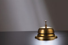 Service bell. On reception table Royalty Free Stock Images
