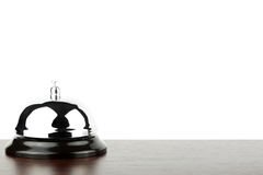 Service bell ring. On the wooden desk Stock Image