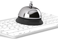 Service Bell ring with keyboard. On the white background Royalty Free Stock Image