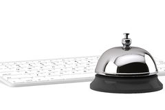 Service Bell ring with keyboard. On the white background Royalty Free Stock Images
