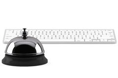 Service Bell ring with keyboard Stock Photography