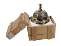 Service Bell in a Shipping Crate Stock Image