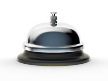 Service Bell on white background. Profile of shiny service bell on white background. Includes pro clipping path royalty free stock images