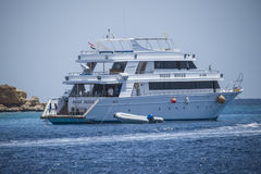 Service boat for divers Royalty Free Stock Image