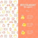 Service Bon Appetit Concept Infographics Banner de restaurant Vecteur illustration stock