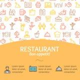 Service Bon Appetit Concept Infographics Banner de restaurant Vecteur illustration libre de droits