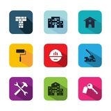 Service building icon vector flat style illustration for web, mobile, symbol, application and graphic design vector illustration