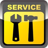 SERVICE button. Shiny SERVICE button vector illustration Royalty Free Stock Photography