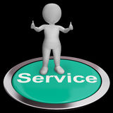 Service Button Meaning Help Support And Assistance Stock Photography