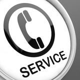 Service  Button Means Call For Customer Help Stock Image