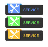 Service buttons Royalty Free Stock Image