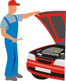 Service of car Stock Photo