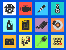 12 Service Car flat icon. Vector illustration. Royalty Free Stock Photography