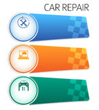 Service-car-repair-button-horizontal-banner-isolated Royalty Free Stock Image