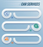 Service-car-repair-workshop-horizontal-banner Stock Images