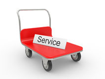 Service cart Royalty Free Stock Image