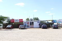 Service Center at Spuds Roadhouse in Pimba, South Australia Royalty Free Stock Photo