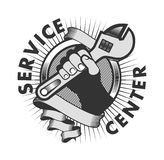 Service Center logo Stock Photo