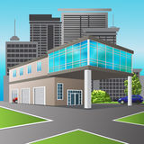 Service center and office in perspective Stock Image