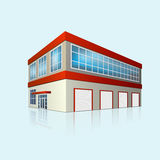 Service center and office with reflection Royalty Free Stock Image