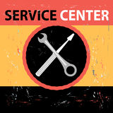 Service Center Retro Royalty Free Stock Photography