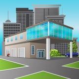 Service-Center und Büro in der Perspektive Stockbild