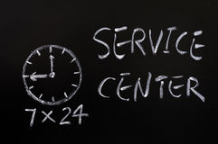 Service center working hours Royalty Free Stock Photos