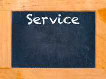 Service chalk board Stock Photo
