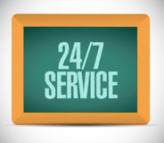 24-7 service chalkboard sign concept. Illustration design icon graphic Stock Photos