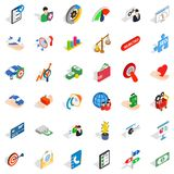 Service charge icons set, isometric style. Service charge icons set. Isometric set of 36 service charge vector icons for web isolated on white background Stock Images