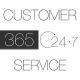 Service client 365-7-24 Illustration Stock