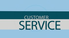 Service client illustration stock