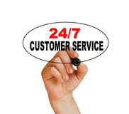 24/7 service client Photo stock